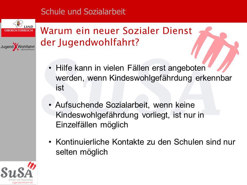 Schule und Sozialarbeit Wie erfolgt die Zusammenarbeit von SuSA mit der Schule.