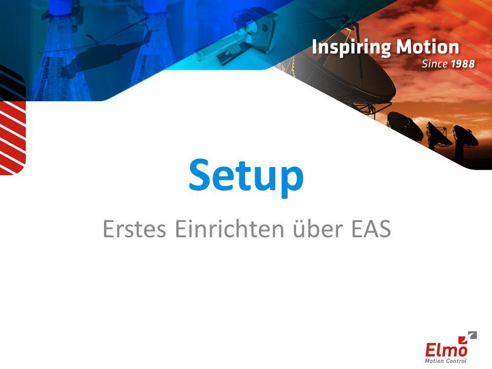 Setup Erstes Einrichten über EAS