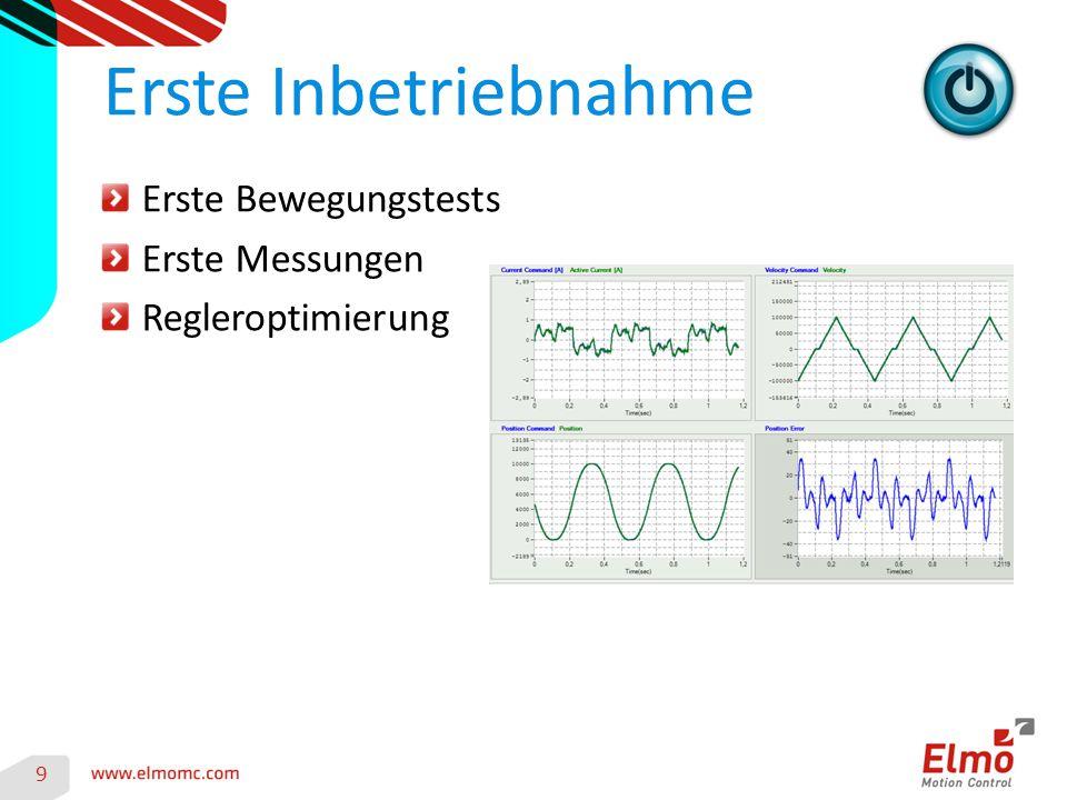 9 Erste Inbetriebnahme Erste Bewegungstests Erste Messungen Regleroptimierung