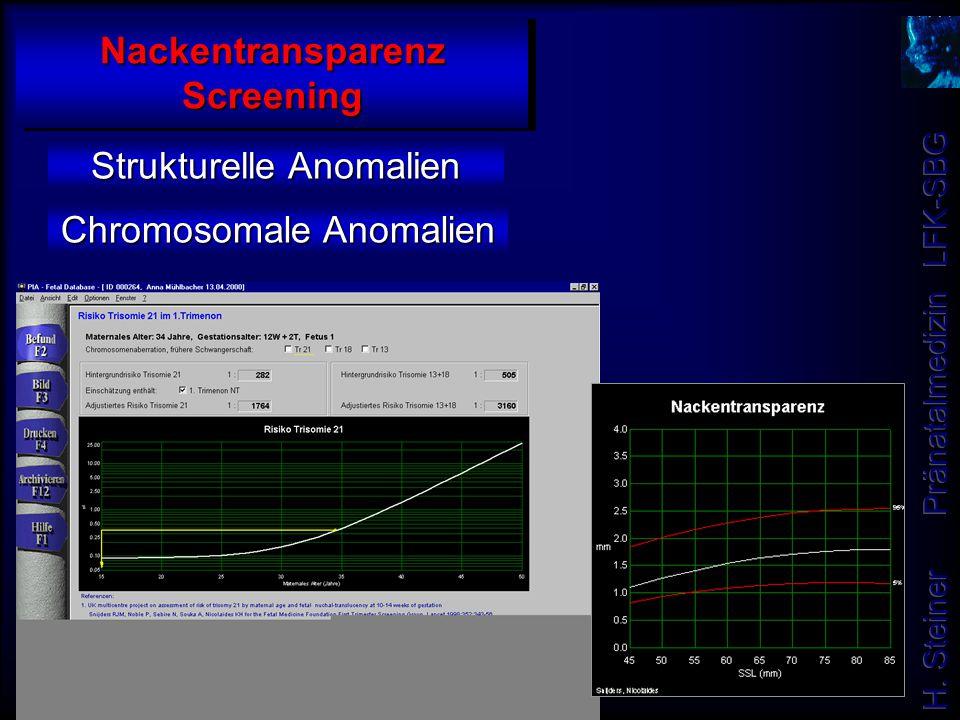 Nackentransparenz Screening Strukturelle Anomalien Chromosomale Anomalien