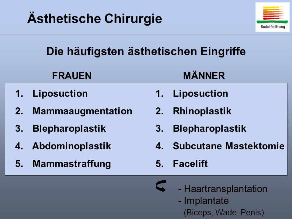 Ästhetische Chirurgie 1.Liposuction 2. Mammaaugmentation 3.