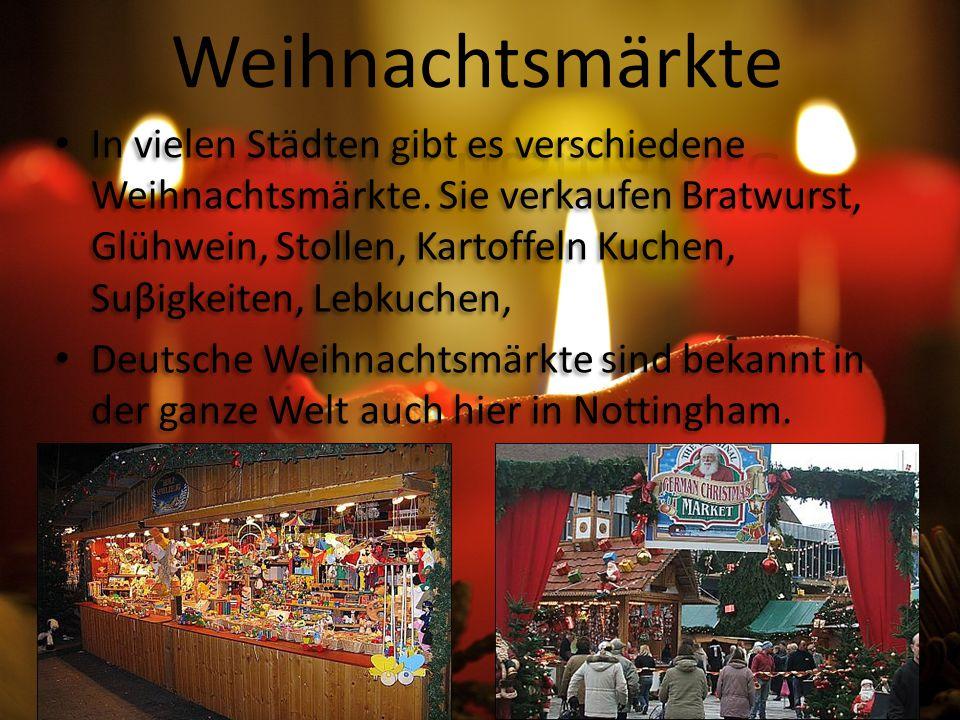 In vielen Städten gibt es verschiedene Weihnachtsmärkte.