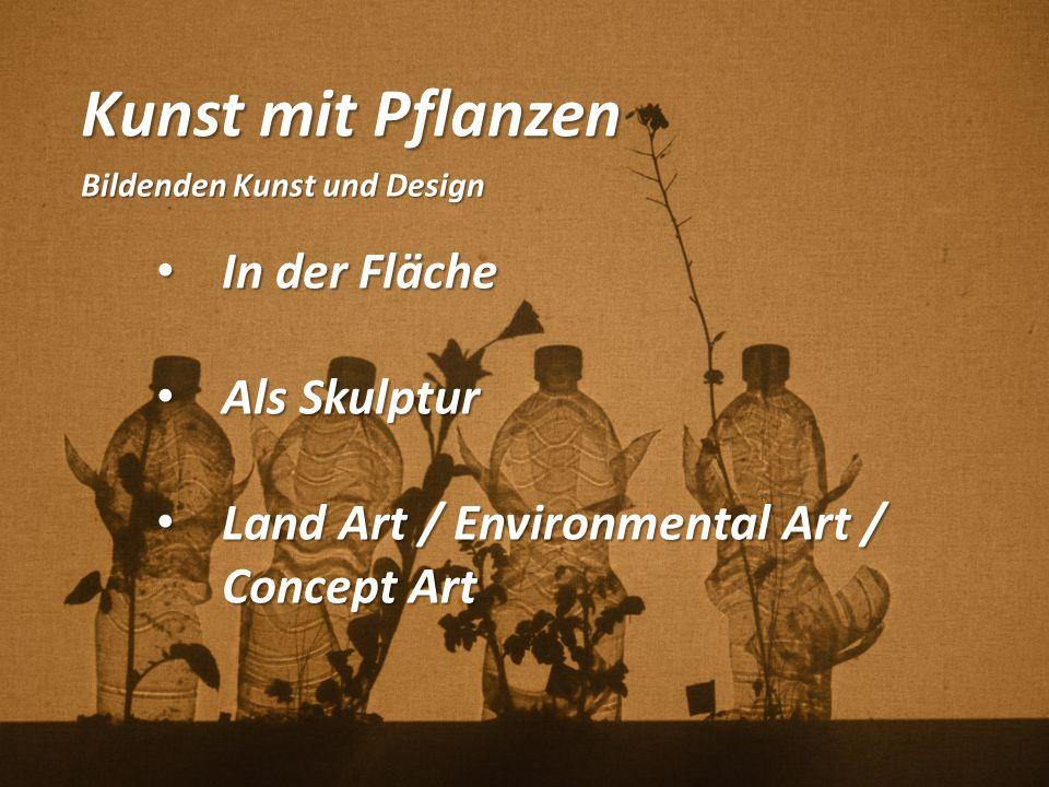 Kunst mit Pflanzen Bildenden Kunst und Design In der Fläche In der Fläche Als Skulptur Als Skulptur Land Art / Environmental Art / Concept Art Land Ar