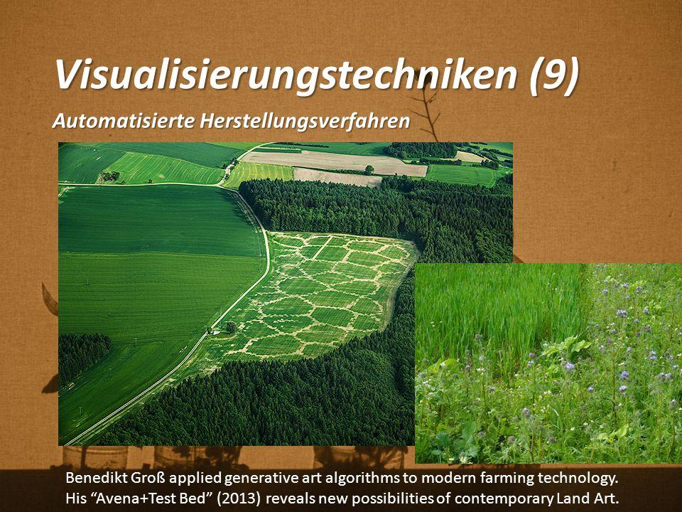"""Visualisierungstechniken (9) Automatisierte Herstellungsverfahren Benedikt Groß applied generative art algorithms to modern farming technology. His """"A"""
