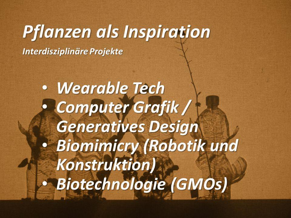 Pflanzen als Inspiration Interdisziplinäre Projekte Wearable Tech Wearable Tech Computer Grafik / Generatives Design Computer Grafik / Generatives Des