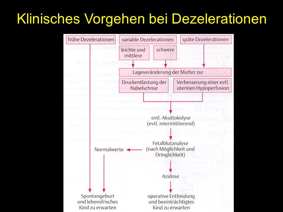 Klinisches Vorgehen bei Dezelerationen