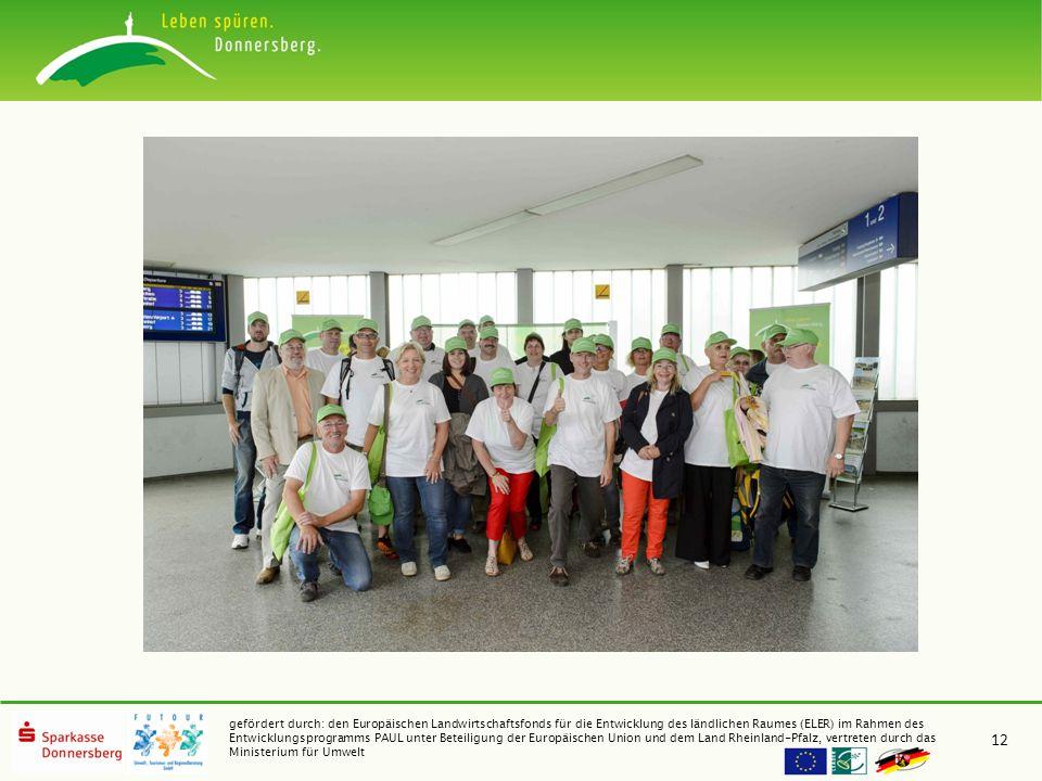 gefördert durch: den Europäischen Landwirtschaftsfonds für die Entwicklung des ländlichen Raumes (ELER) im Rahmen des Entwicklungsprogramms PAUL unter Beteiligung der Europäischen Union und dem Land Rheinland-Pfalz, vertreten durch das Ministerium für Umwelt 12