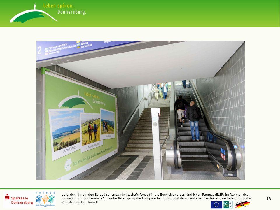 gefördert durch: den Europäischen Landwirtschaftsfonds für die Entwicklung des ländlichen Raumes (ELER) im Rahmen des Entwicklungsprogramms PAUL unter Beteiligung der Europäischen Union und dem Land Rheinland-Pfalz, vertreten durch das Ministerium für Umwelt 18