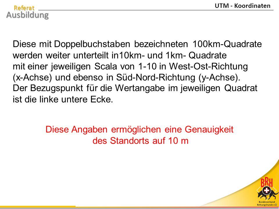 Referat Ausbildung 7 32U NU 5597 7592 UTM - Koordinaten