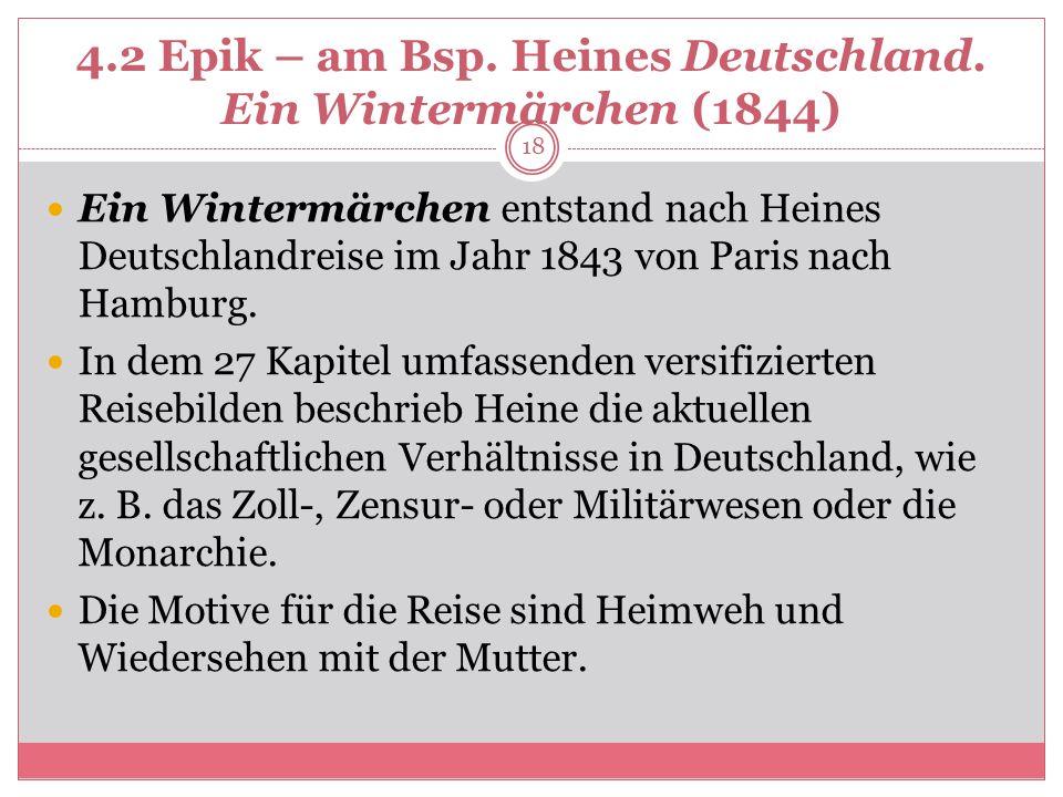 4.2 Epik – am Bsp.Heines Deutschland.