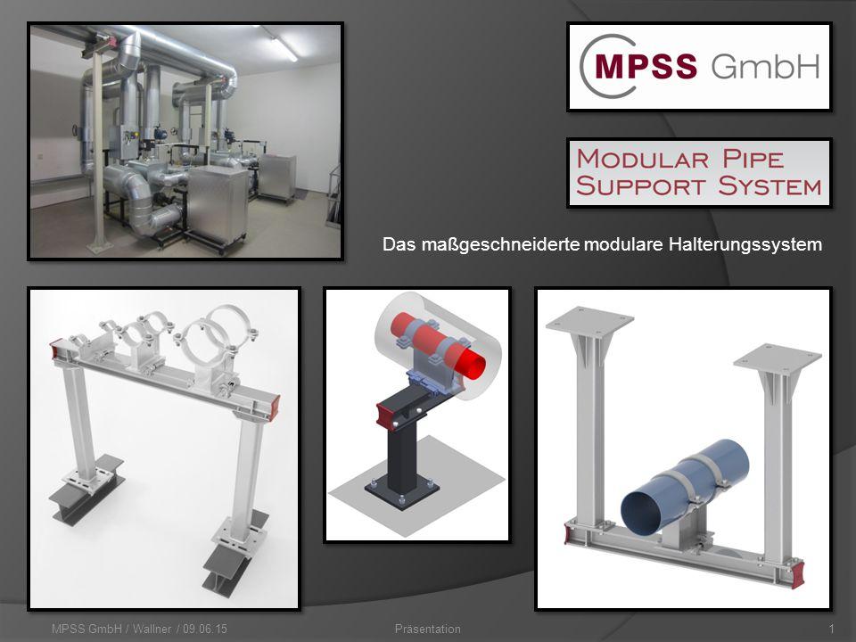 MPSS GmbH / Wallner / 09.06.151Präsentation Das maßgeschneiderte modulare Halterungssystem