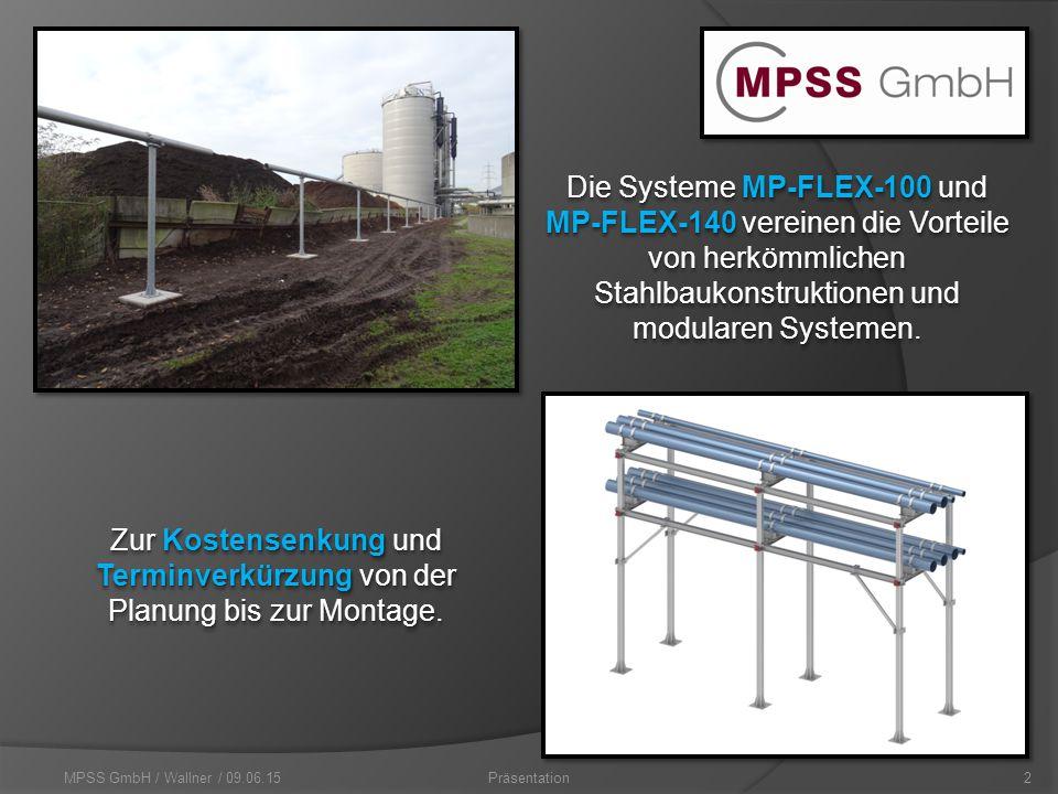 MPSS GmbH / Wallner / 09.06.152Präsentation Zur Kostensenkung und Terminverkürzung von der Planung bis zur Montage.