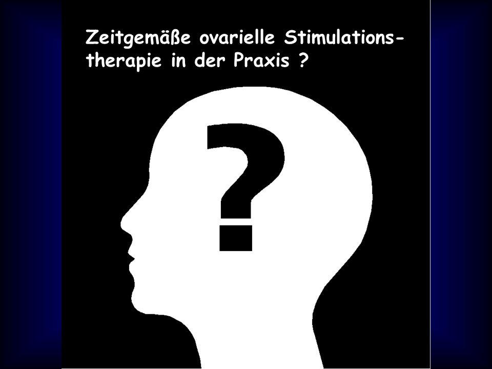 Zeitgemäße ovarielle Stimulations- therapie in der Praxis ?