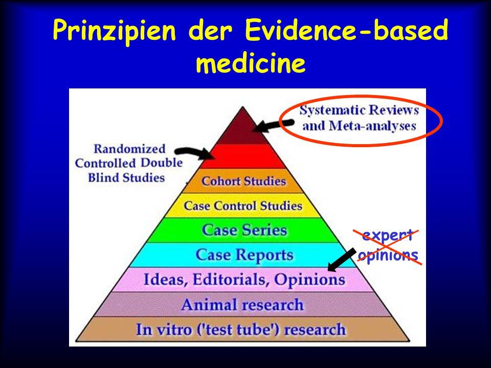 Prinzipien der Evidence-based medicine expert opinions