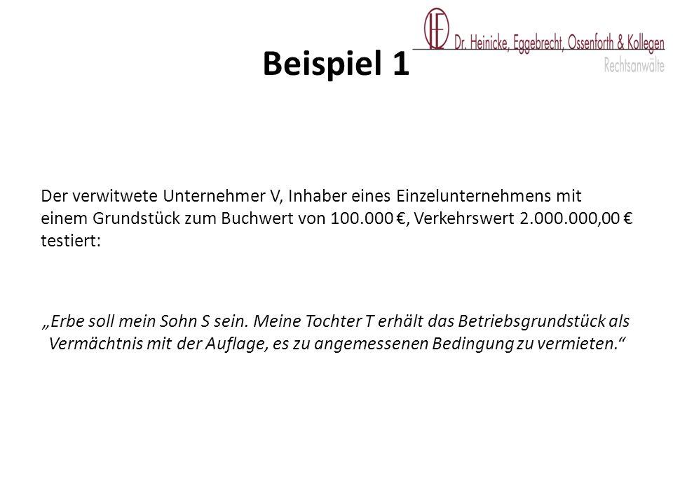 Folge: Zu versteuernder Veräußerungsgewinn von 200.000,00 €.