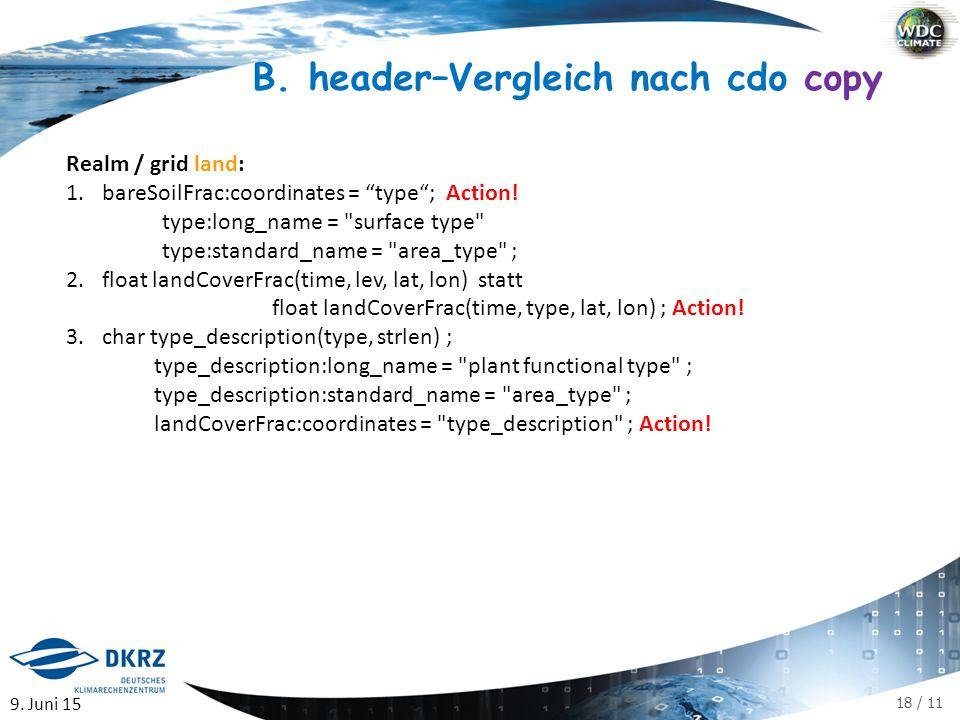 18 / 11 Realm / grid land: 1.bareSoilFrac:coordinates = type ; Action.