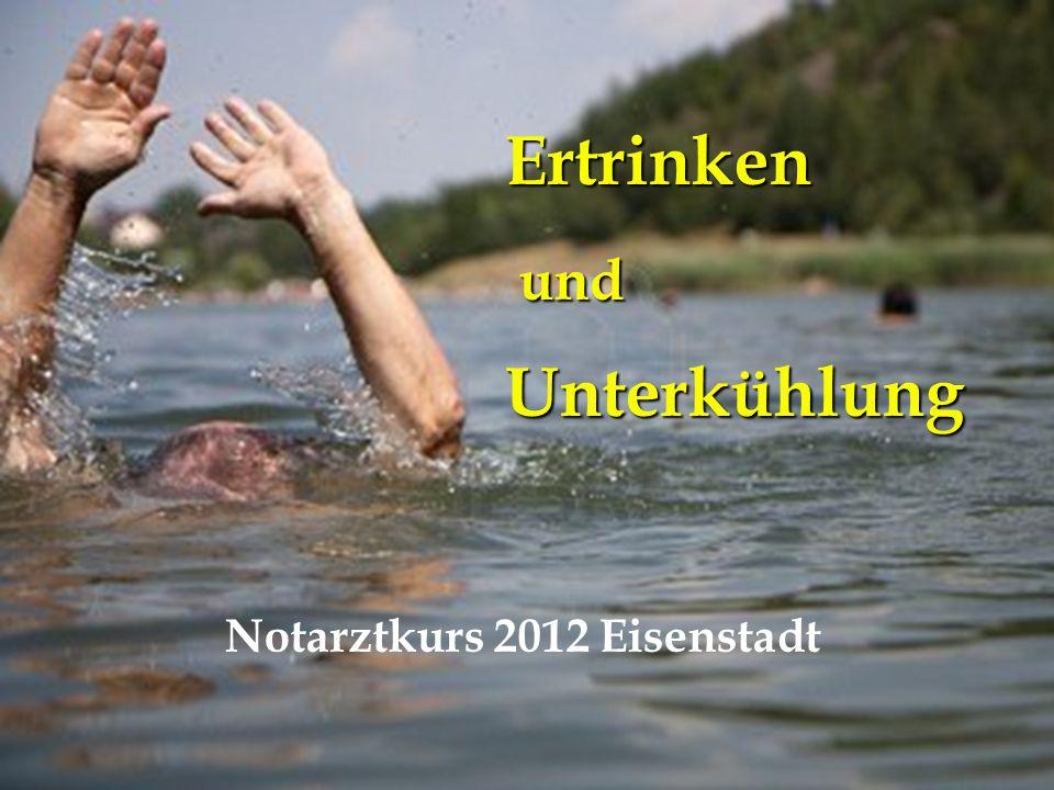 NA-Kurs Eisenstadt 26.4.2012 Wasser ≤ 15° 2.Schwimmversagen l muskulär, neural 1.