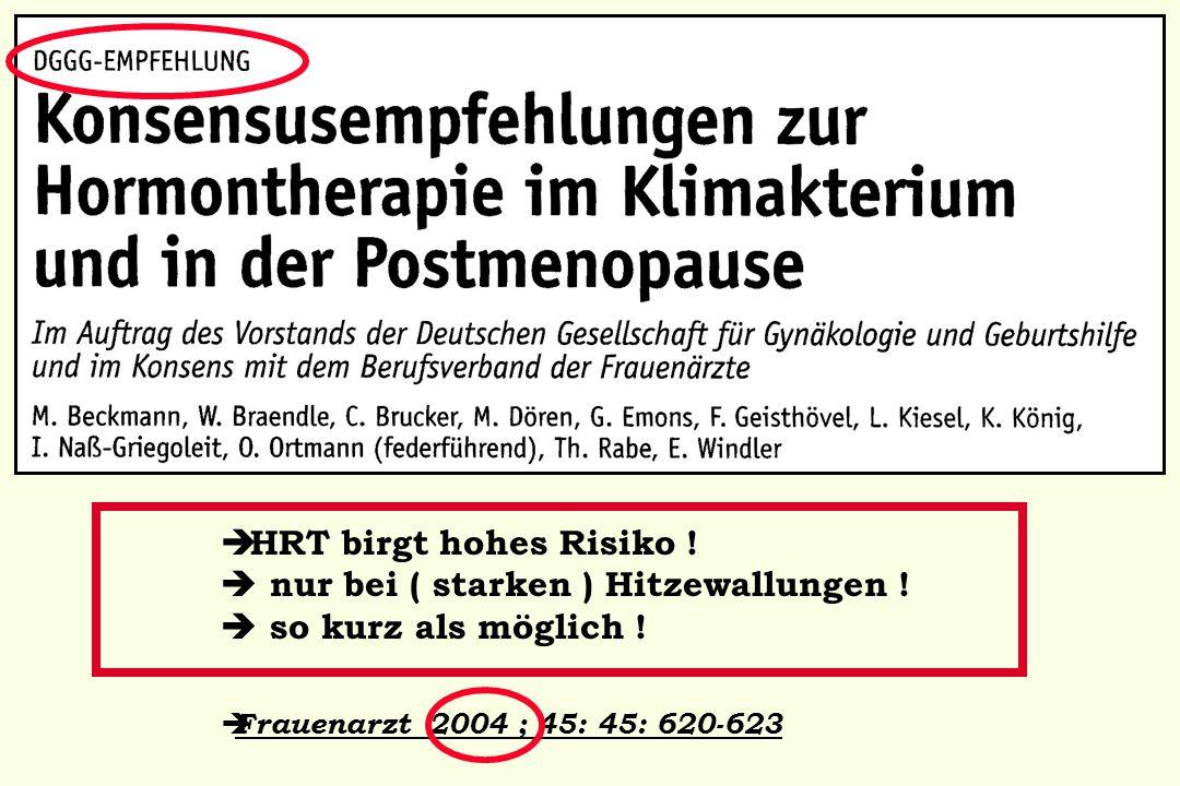 Mueck AO ( federführend ): Geburtsh Frauenheilk 2006;66:602; Senologie 2006; 3:101; Frauenarzt 2007; 48: 724; aktualisiert: Frauenarzt 2010 ( November ); 52: 1023,