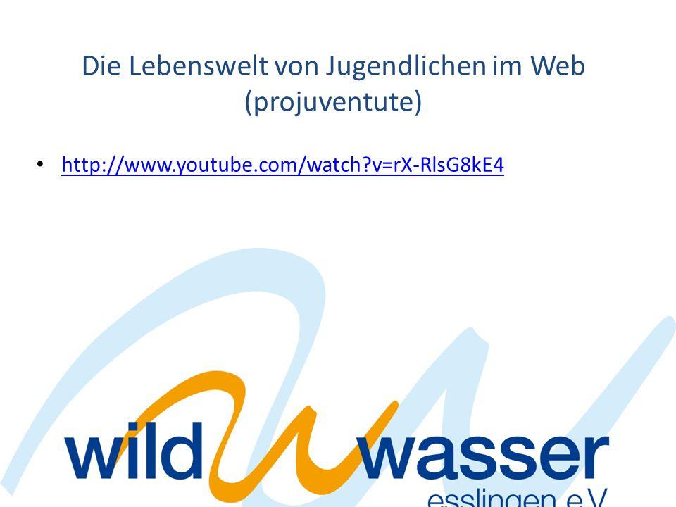 Die Lebenswelt von Jugendlichen im Web (projuventute) http://www.youtube.com/watch?v=rX-RlsG8kE4