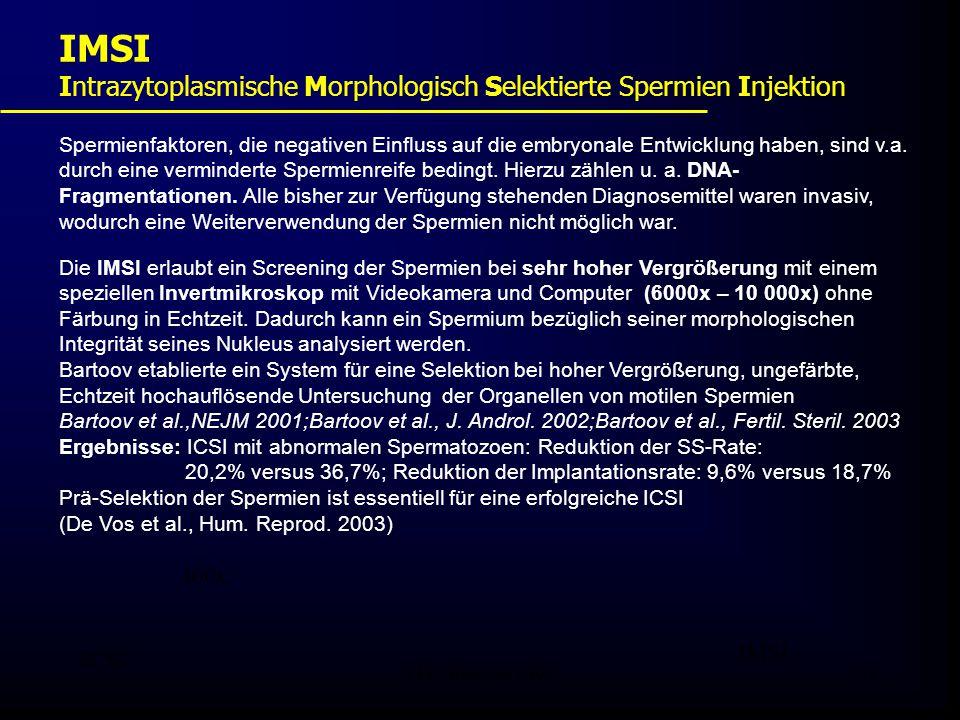 FIS - Pissouri 200841 Spermienfaktoren, die negativen Einfluss auf die embryonale Entwicklung haben, sind v.a. durch eine verminderte Spermienreife be