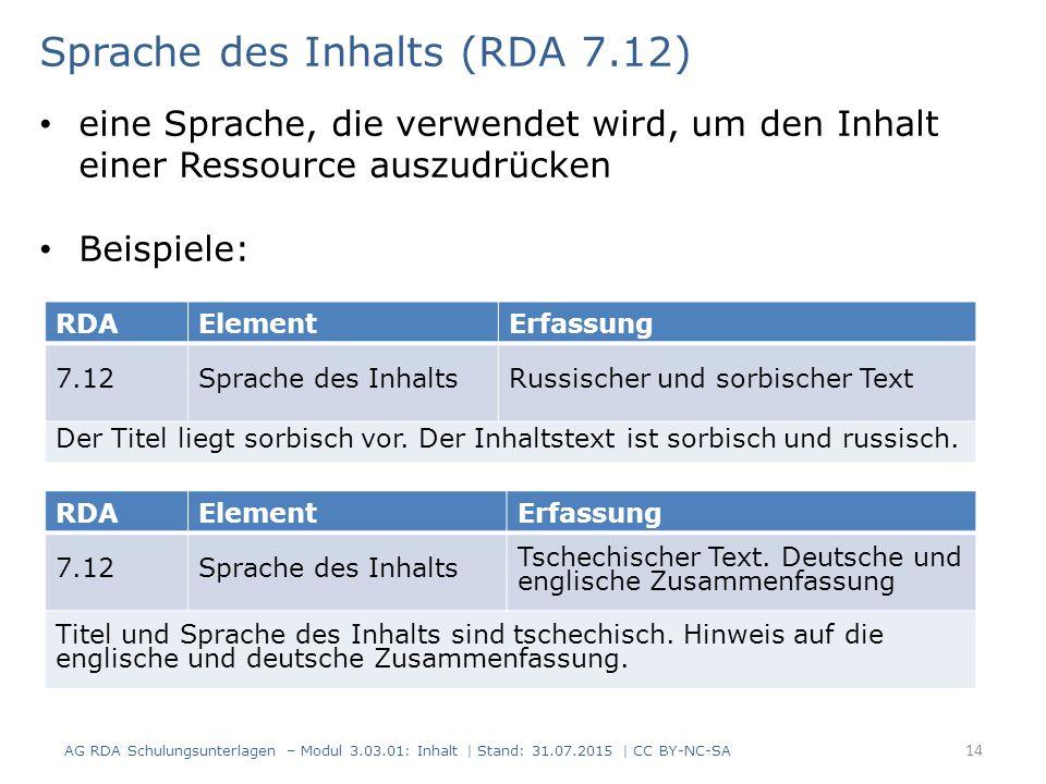 RDAElementErfassung 7.12Sprache des InhaltsRussischer und sorbischer Text Der Titel liegt sorbisch vor.