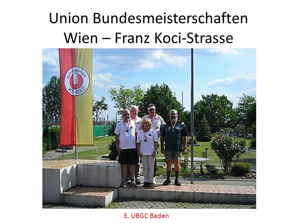 Union Bundesmeisterschaften Wien – Franz Koci-Strasse 3. UBGC Baden