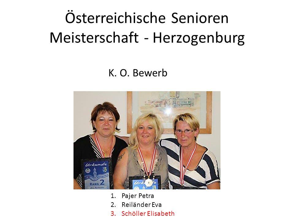 Österreichische Senioren Meisterschaft - Herzogenburg 1.Pajer Petra 2.Reiländer Eva 3.Schöller Elisabeth K. O. Bewerb