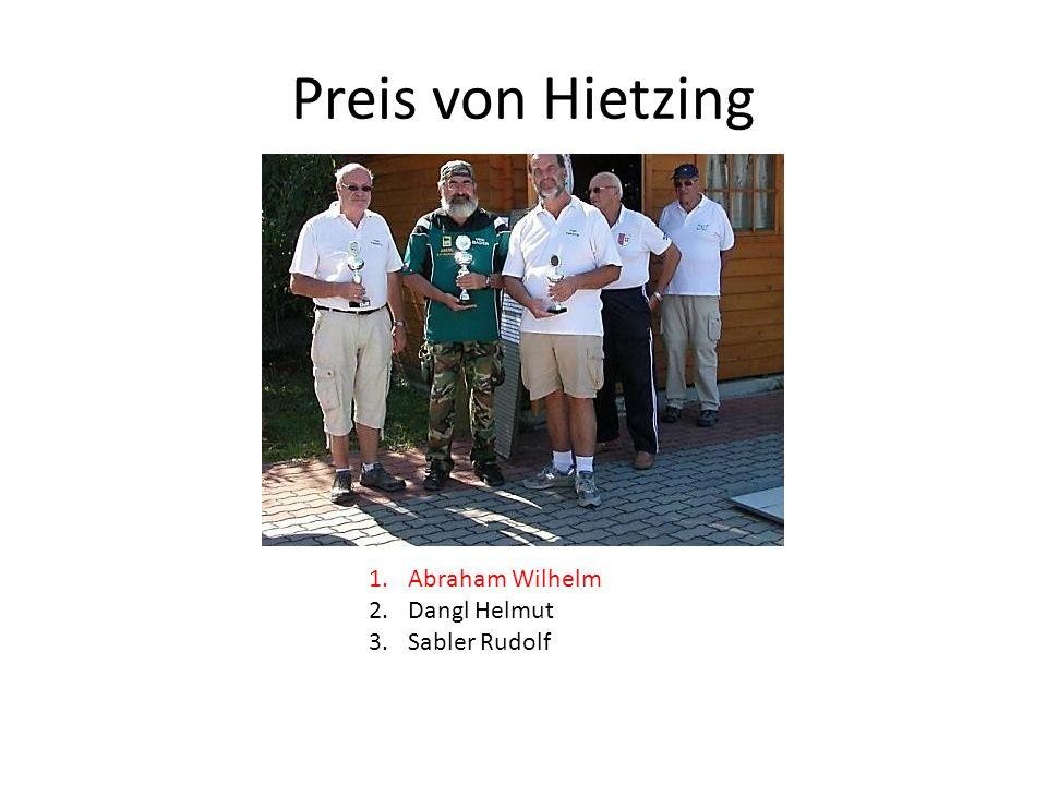 Preis von Hietzing 1.Abraham Wilhelm 2.Dangl Helmut 3.Sabler Rudolf