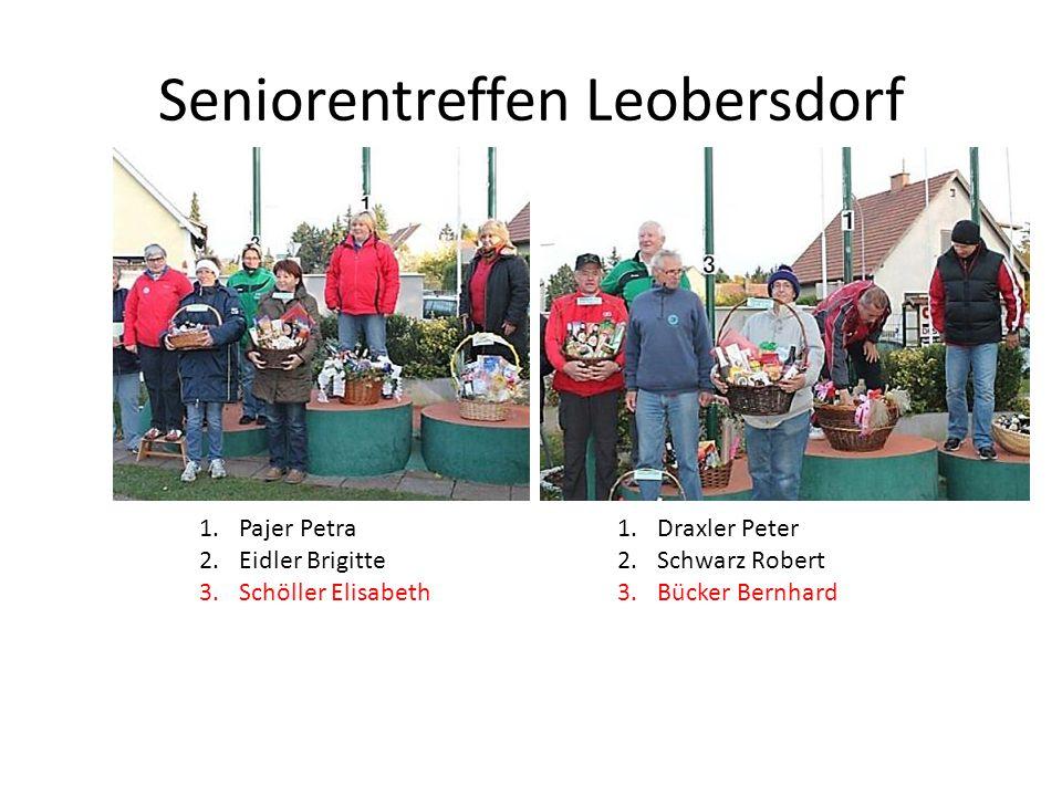 Seniorentreffen Leobersdorf 1.Pajer Petra 2.Eidler Brigitte 3.Schöller Elisabeth 1.Draxler Peter 2.Schwarz Robert 3.Bücker Bernhard