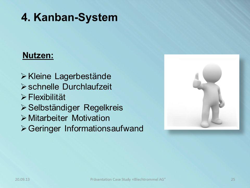 4. Kanban-System 25Präsentation Case Study «Blechtrommel AG