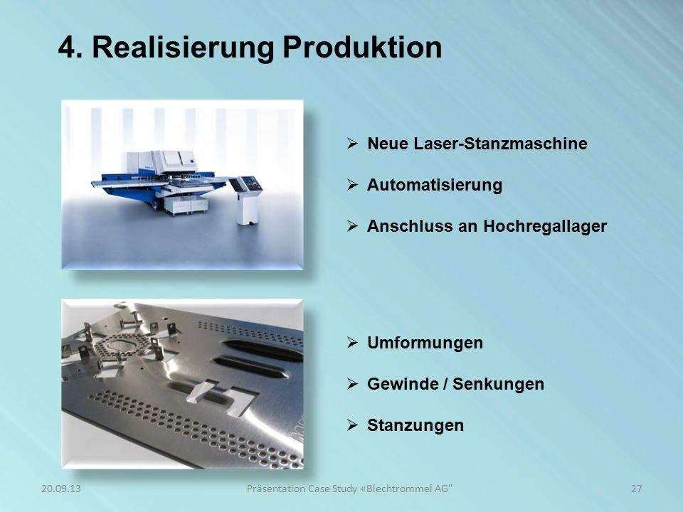4. Realisierung Produktion 27Präsentation Case Study «Blechtrommel AG