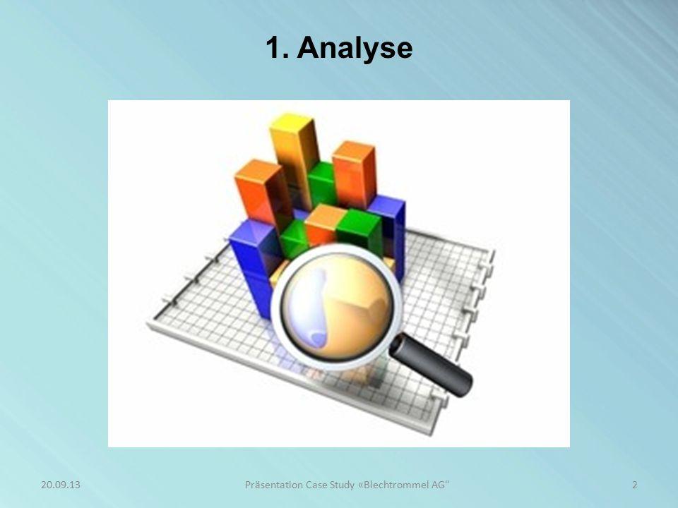 2 1. Analyse Präsentation Case Study «Blechtrommel AG 20.09.13