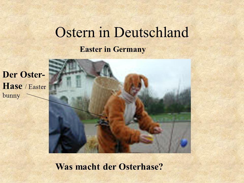 Ostern in Deutschland Easter in Germany Was macht der Osterhase? Der Oster- Hase / Easter bunny