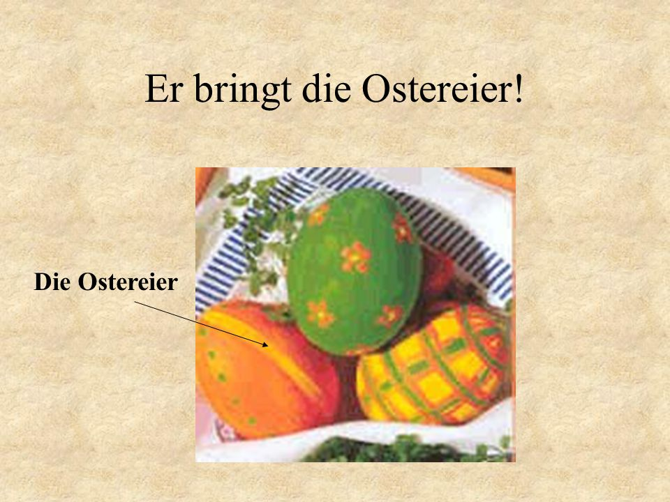 Der Ostersonntag Day of the resurrection of Jesus Christ.