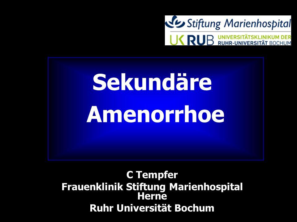  Definition  Primäre Amenorrhoe  keine Menstruationsblutung bis zum 16.