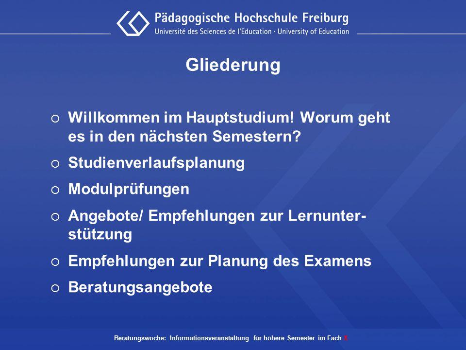 Empfehlungen zur Planung des Examens  Sammeln Sie frühzeitig Literatur für mögliche Prüfungsthemen.