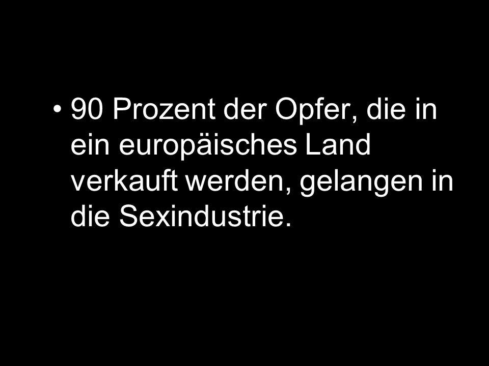 Menschenhandel zum Zwecke der sexuellen Ausbeutung erzielt den größten Gewinn mit ca.