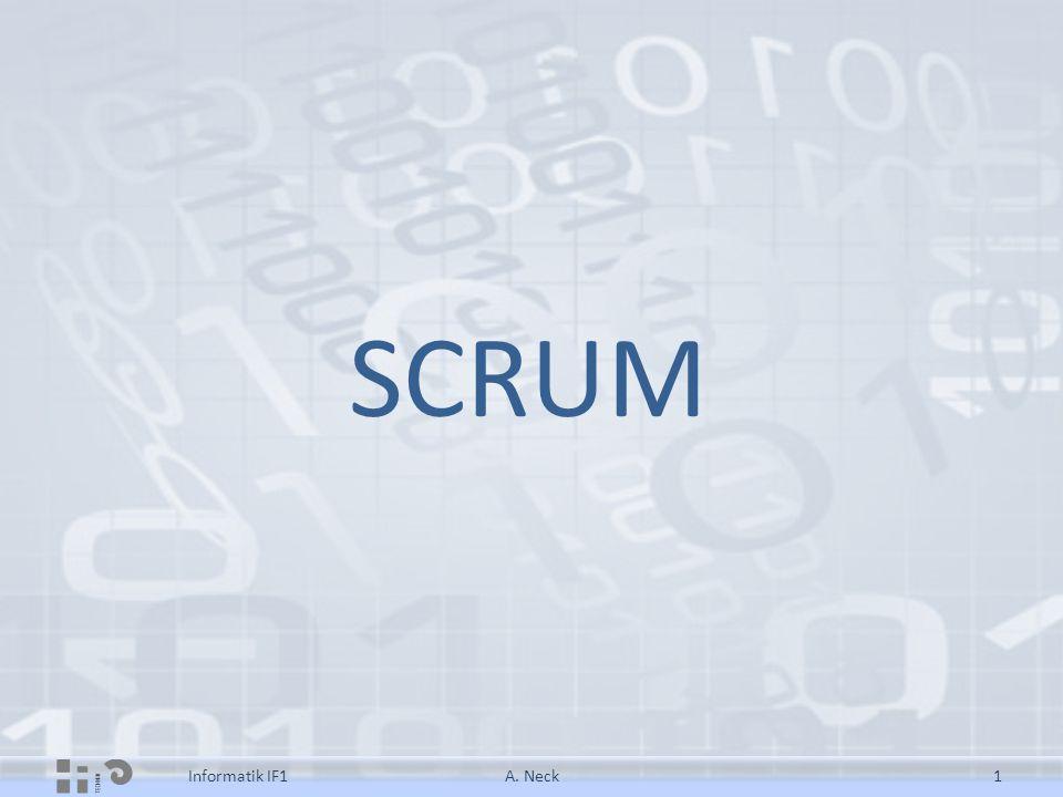 SCRUM Informatik IF11A. Neck