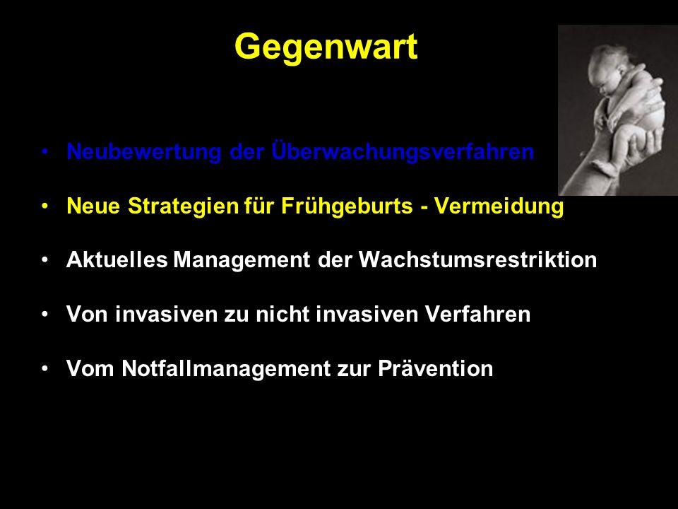Neubewertung der Überwachungsverfahren Neue Strategien für Frühgeburts - Vermeidung Aktuelles Management der Wachstumsrestriktion Von invasiven zu nic