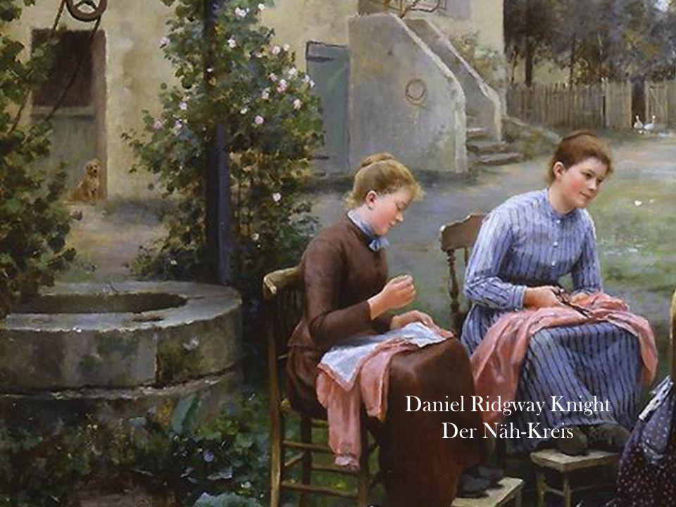 Daniel Ridgway Knight Der Näh-Kreis