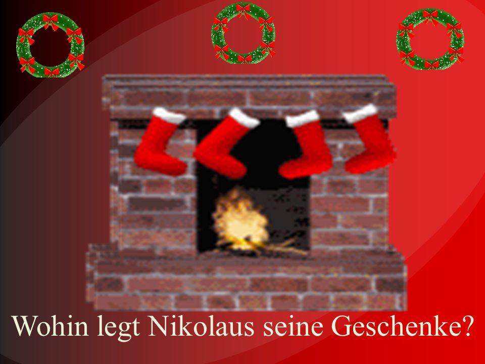 Was schenkt Nikolaus den fleißigen und guten Kinder?