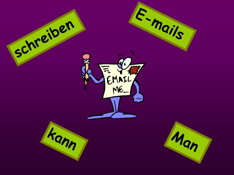schreiben Man E-mails kann