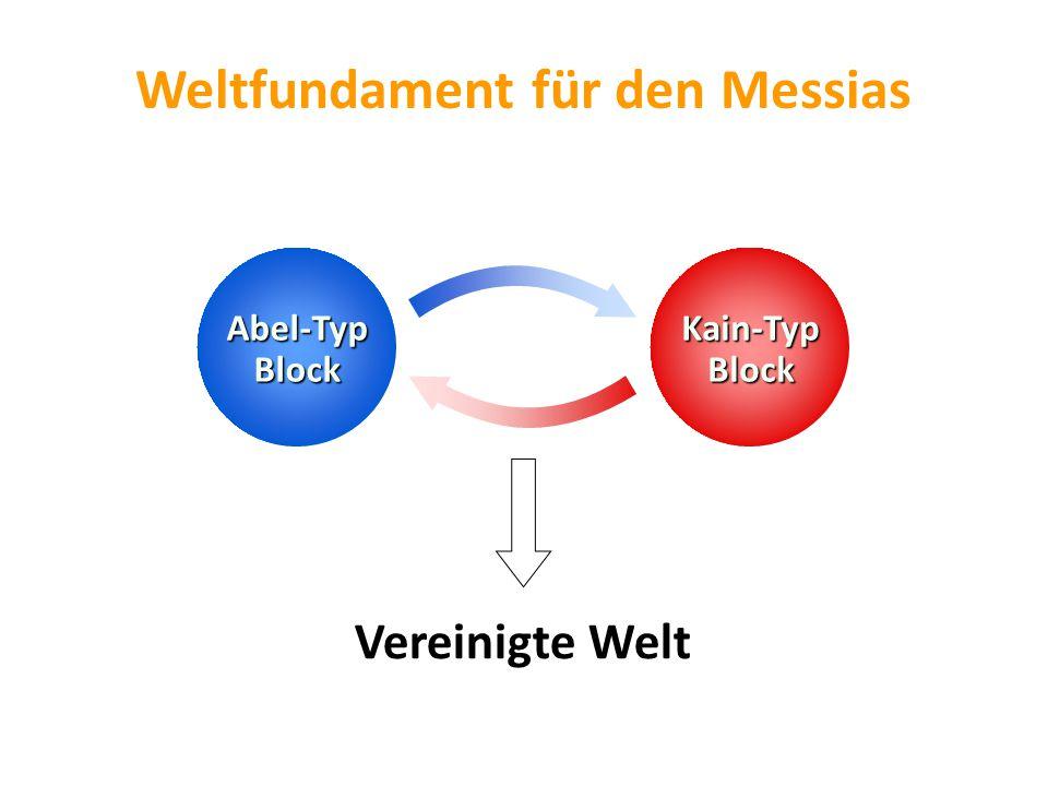 Abel-Typ Block Weltfundament für den Messias Vereinigte Welt Kain-Typ Block