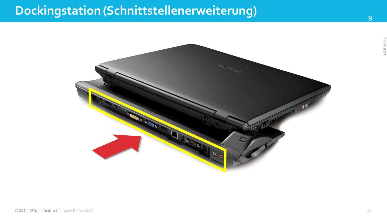 Dockingstation (Schnittstellenerweiterung) © 2010-2015 - Think a bit - www.thinkabit.ch 26 9