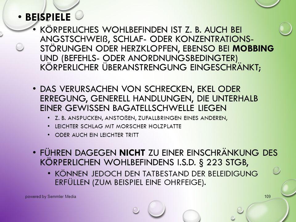 BEISPIELE KÖRPERLICHES WOHLBEFINDEN IST Z. B. AUCH BEI ANGSTSCHWEIß, SCHLAF- ODER KONZENTRATIONS- STÖRUNGEN ODER HERZKLOPFEN, EBENSO BEI MOBBING UND (