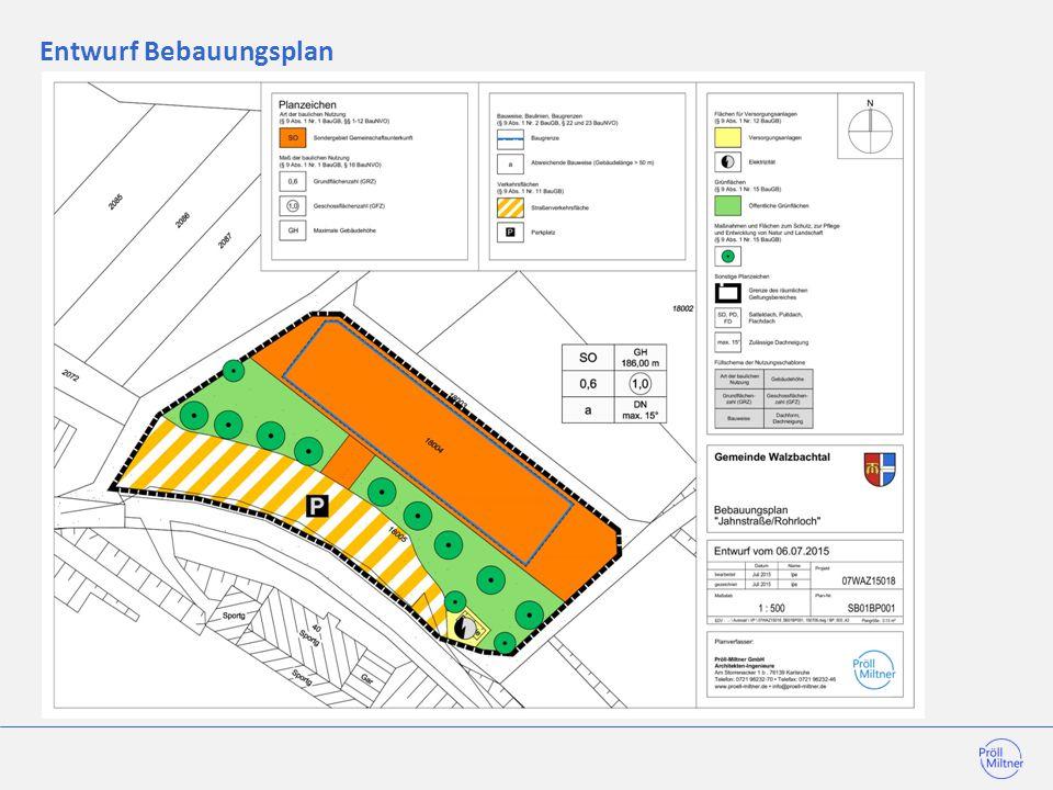 Entwurf Bebauungsplan