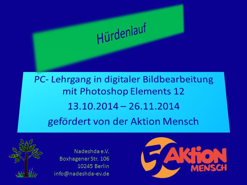 Nadeshda e.V. Boxhagener Str. 106 10245 Berlin info@nadeshda-ev.de