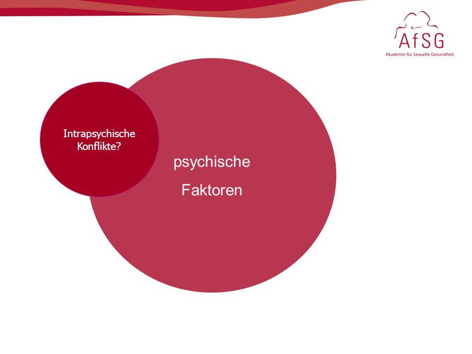 psychische Faktoren Intrapsychische Konflikte?