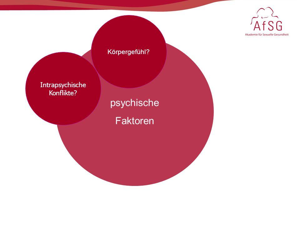 psychische Faktoren Intrapsychische Konflikte? Körpergefühl?