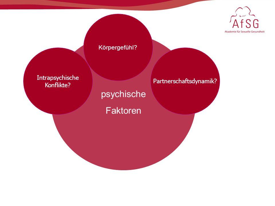 psychische Faktoren Intrapsychische Konflikte? Körpergefühl? Partnerschaftsdynamik?